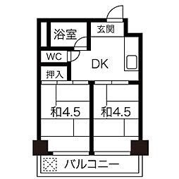 向陽ビル[8階]の間取り