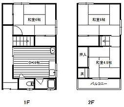 [一戸建] 大阪府堺市堺区七条通 の賃貸【/】の間取り