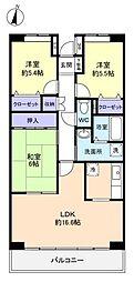 千葉県八千代市緑が丘1丁目の賃貸マンションの間取り