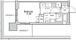 東京メトロ南北線 六本木一丁目駅 徒歩2分の賃貸マンション 5階1Kの間取り