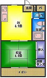 京屋ハイツ[2階]の間取り
