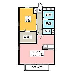 メゾンK鳥居松[2階]の間取り