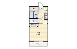 広陵荘2[2階]の間取り