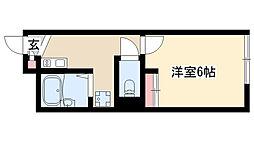 愛知県名古屋市瑞穂区東栄町1丁目の賃貸アパートの間取り