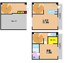 [タウンハウス] 岡山県岡山市北区西古松1丁目 の賃貸【/】の間取り