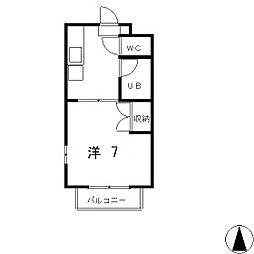イステートI[1階]の間取り