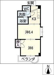 マンション天里[4階]の間取り