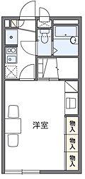西武秩父線 東飯能駅 徒歩7分の賃貸アパート 1階1Kの間取り