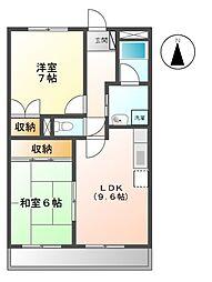サン徳重[2階]の間取り