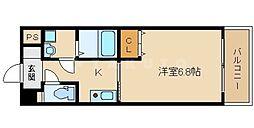 ラクラス高殿[8階]の間取り