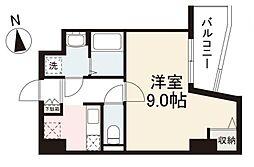 JR高徳線 栗林公園北口駅 徒歩7分の賃貸マンション 9階1Kの間取り