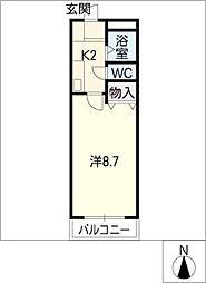 コーポ泉[1階]の間取り