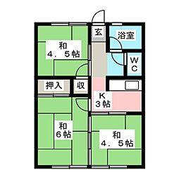 シティハイム石塚[1階]の間取り