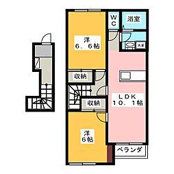 フェリーチェ S[2階]の間取り
