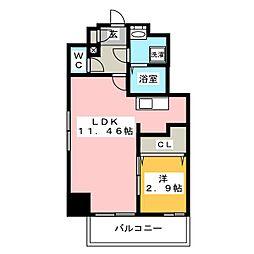 ウインステージ箱崎Ⅱ[10階]の間取り