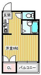 セラ北加賀屋B棟[408号室]の間取り