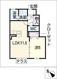 e−room[1階]の間取り