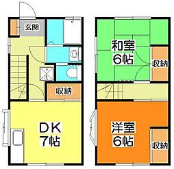 [テラスハウス] 東京都東久留米市下里1丁目 の賃貸【東京都 / 東久留米市】の間取り