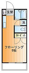 藤井ハイツ[1f号室]の間取り