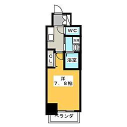 エステムコート名古屋今池アーバンゲート 8階1Kの間取り