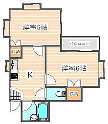プレスト高宮[1階]の間取り