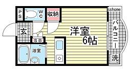 カサイマンション[201号室]の間取り