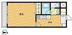 スリーベルマンションI[2階]の間取り