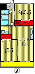 デージーコート相模台[2階]の間取り