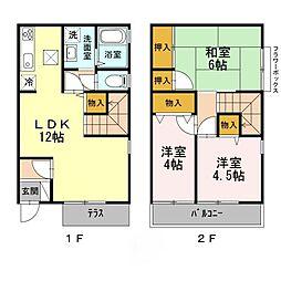 [テラスハウス] 東京都西東京市中町3丁目 の賃貸【/】の間取り