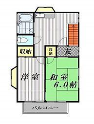 金子アパート[2階]の間取り