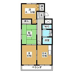 メゾンドMA[2階]の間取り