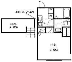 アイランドフラット[1階]の間取り