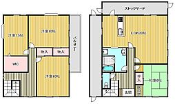 [一戸建] 滋賀県栗東市出庭 の賃貸【/】の間取り
