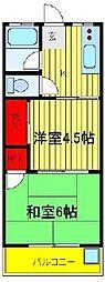 関東富士マンション[401号室]の間取り