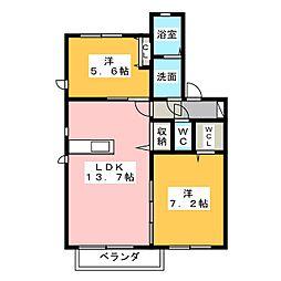 ARCADIA IV[1階]の間取り