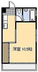 中原ビル[301号室]の間取り