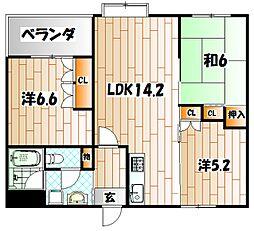 アメニス桜山寺C棟[8階]の間取り