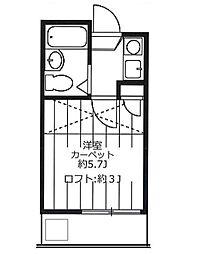 リヴィエール戸塚II[2階]の間取り