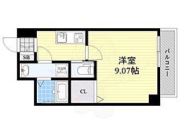 Osaka Metro御堂筋線 江坂駅 徒歩9分の賃貸マンション 3階1Kの間取り