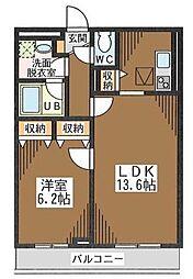 Fels[3階]の間取り