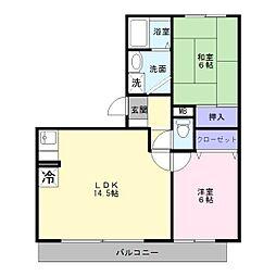 パークハウス1番館[2階]の間取り