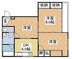 AISマンション[303号室]の間取り