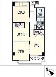 MARUMANマンション[6階]の間取り