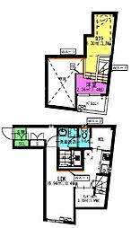 名古屋市営桜通線 中村区役所駅 徒歩12分の賃貸アパート 1階1SLDKの間取り