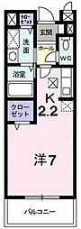 東京都町田市金森東2丁目の賃貸アパートの間取り