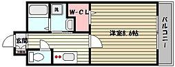 兵庫県神戸市灘区篠原中町2丁目の賃貸マンションの間取り