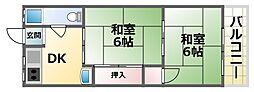 第1清涼マンション 3階2Kの間取り