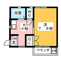 ラフォルテ美館[2階]の間取り