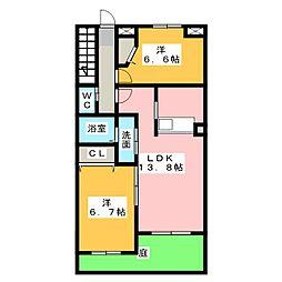 メゾンマイコム[1階]の間取り