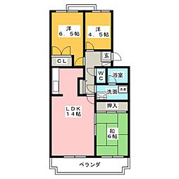 大藤ハイツ[2階]の間取り